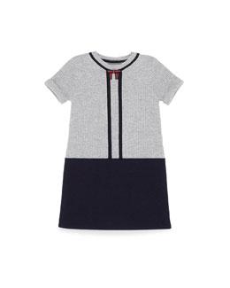 GUCCI Short-Sleeve Wool Sweaterdress, Blue, Girls' 4-12
