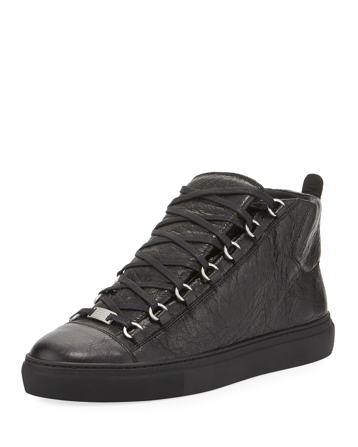 7a89b99315ef Balenciaga Men s Arena Leather High-Top Sneaker