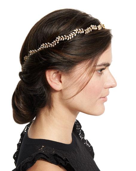 Jennifer Behr Vine Circlet Crystal Headband