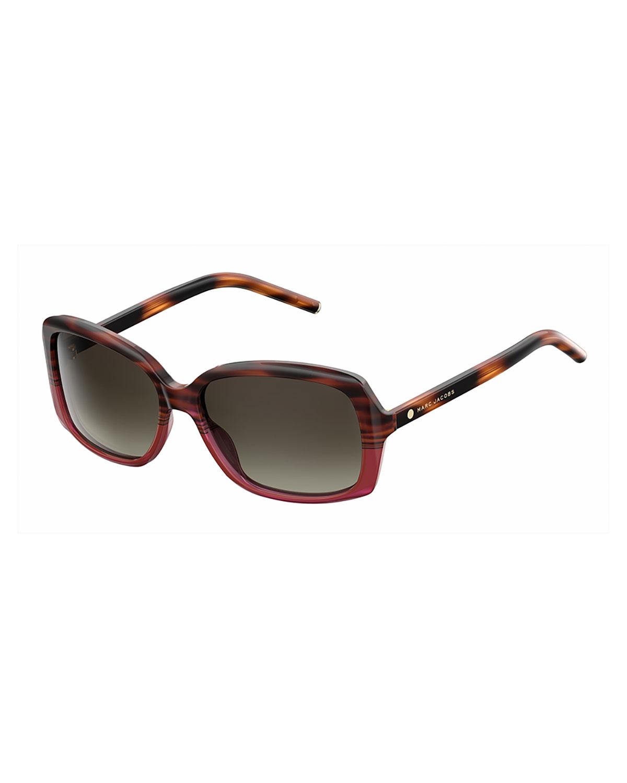 3c676a119f529 Marc Jacobs Gradient Square Plastic Sunglasses