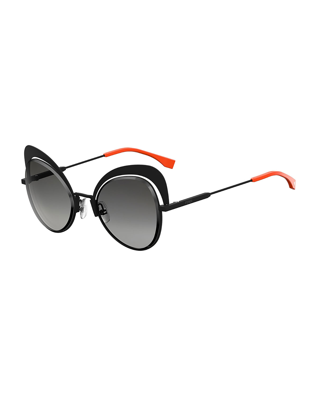 ad1840a3aaae0 Fendi Cutout Cat-Eye Sunglasses