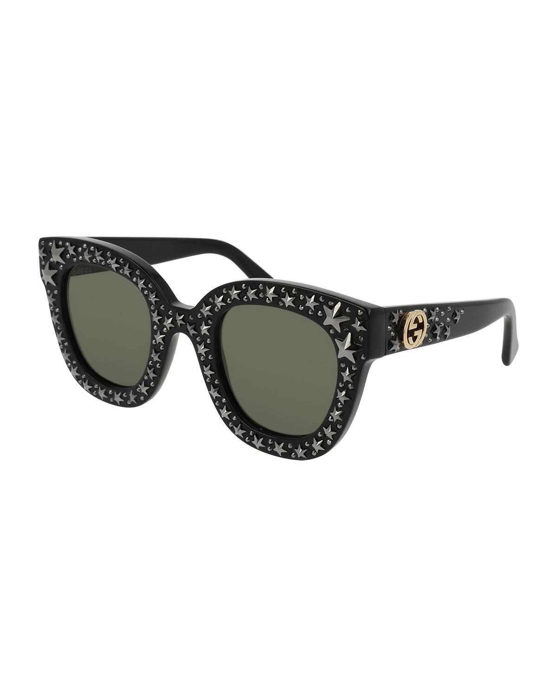 a43c521754d Gucci Square Swarovski® Star Sunglasses