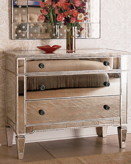 Image 1 of 4: Amelie Mirrored Hall Chest