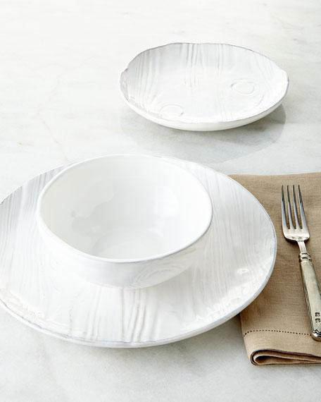 NM EXCLUSIVE 12-Piece Wood-Grain Design Dinnerware Service