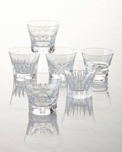 Everyday Baccarat Assorted Old Fashion Tumblers  Set of 6