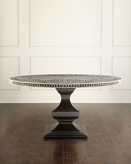 Vivian Inlay Dining Table