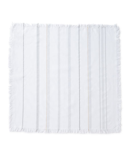 Image 1 of 4: Juliska Variegated Metallic Stripe Napkin