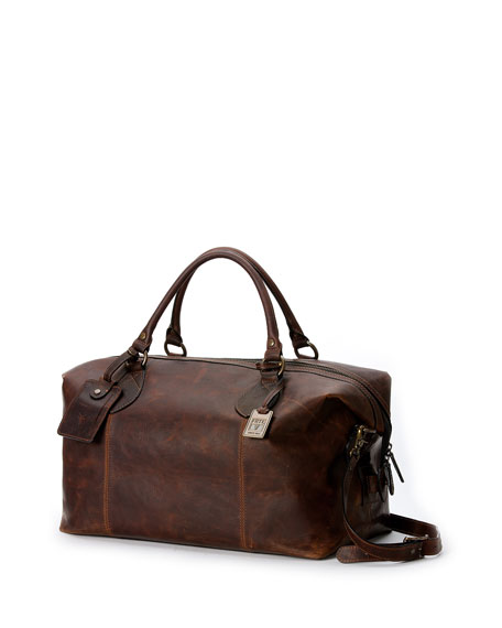 Logan Men's Leather Overnight Bag