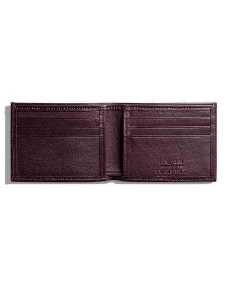 Slim Leather Bifold Wallet