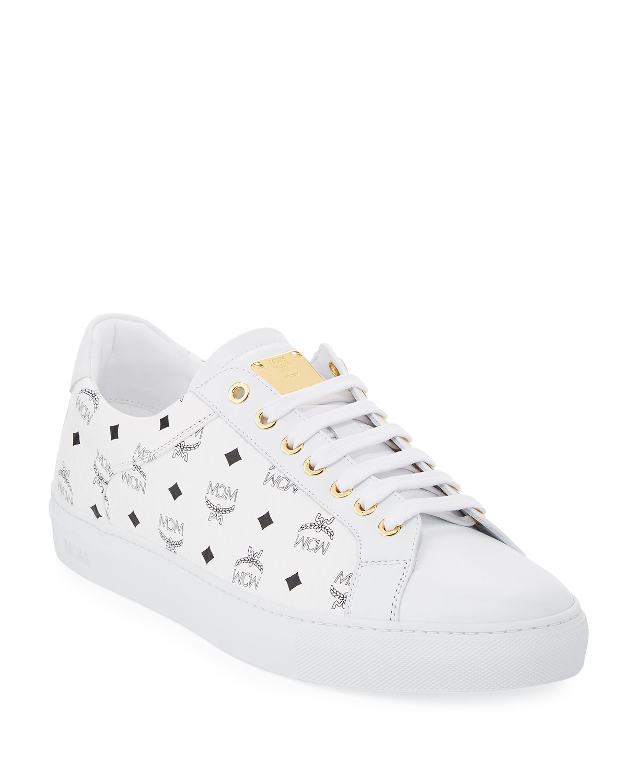 MCM Women's Low Top Lace Up Sneaker