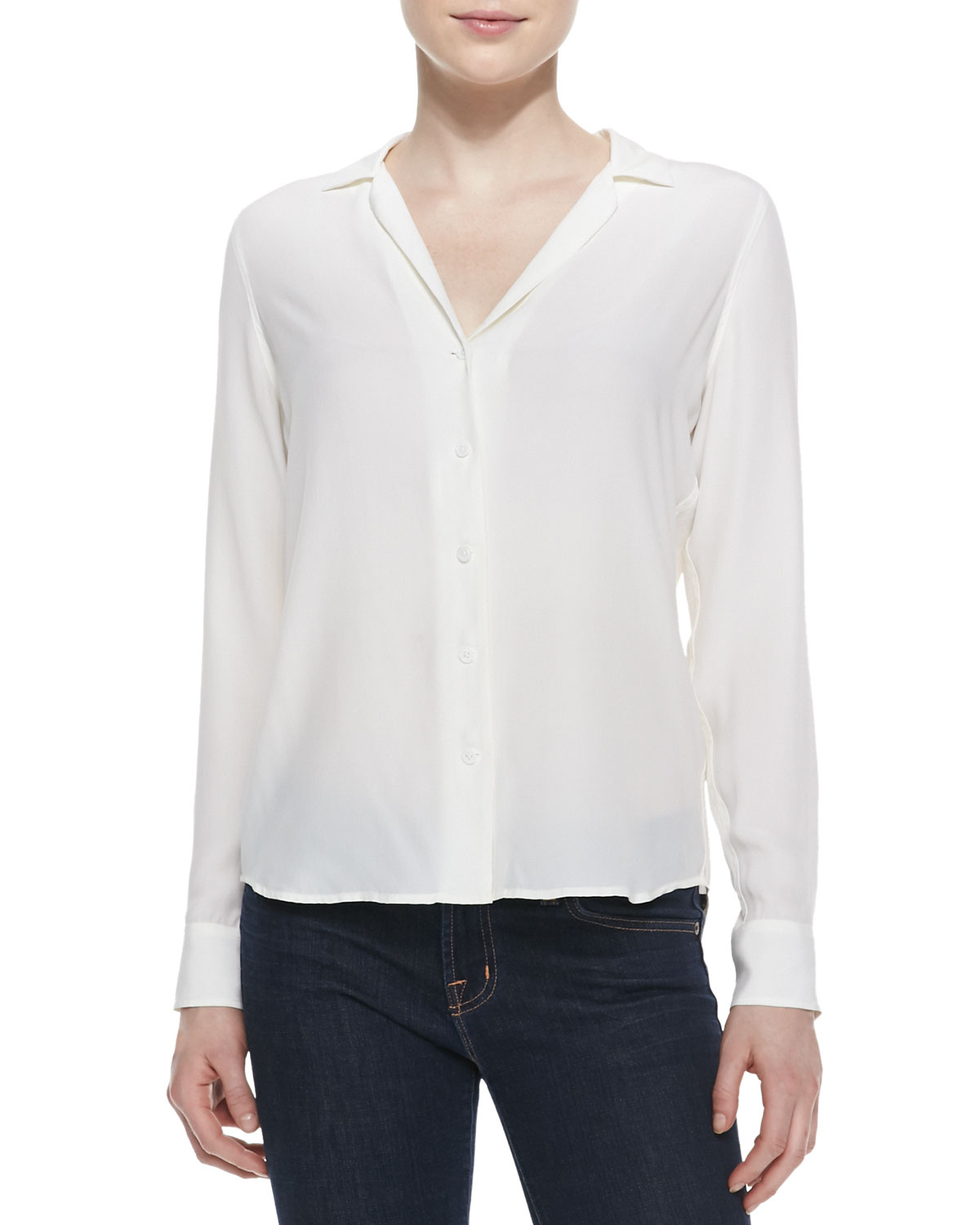 1c0b212fcb244 Quick Look. Equipment · Adalyn Silk Long-Sleeve Blouse. Available in White