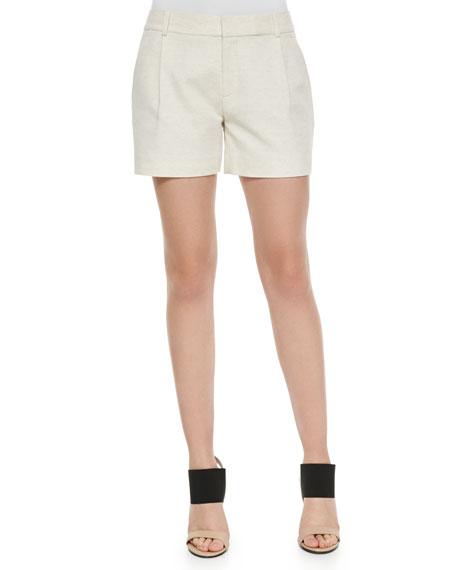 Vince Ottoman Single-Pleat Shorts