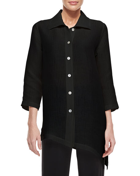 Caroline Rose Long-Sleeve Ribwave Shirt