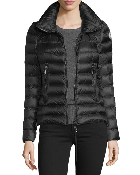 Agape Short Puffer Jacket, Black