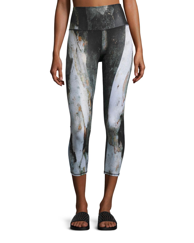 36a1840ad6 Alo Yoga Airbrush Printed Sport Capri Leggings | Neiman Marcus