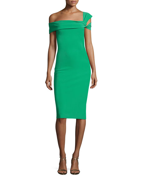 Laia One-Shoulder Stretch Jersey Cocktail Dress
