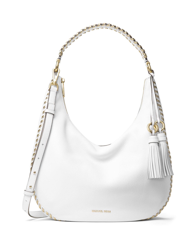 c53e02b82c8d68 MICHAEL Michael Kors Lauryn Large Leather Shoulder Bag | Neiman Marcus