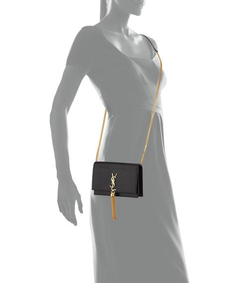 Saint Laurent Kate Smooth Calf Tassel Chain Wallet