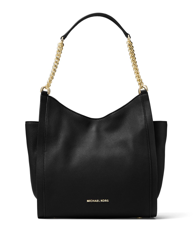 6e4aeef34ce7 MICHAEL Michael Kors Newbury Medium Leather Chain Shoulder Tote Bag ...