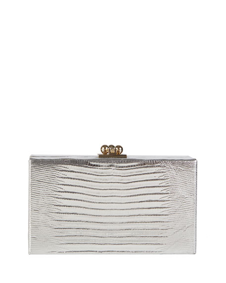 Image 1 of 4: Jean Lizard Framed Clutch Bag