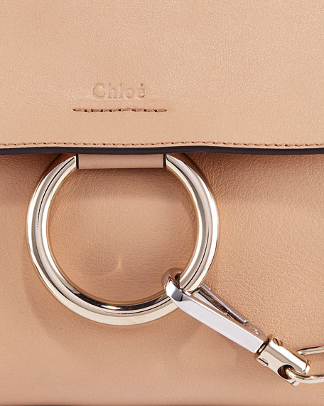 Chloe Faye Day Small Pebbled Ring Shoulder Bag