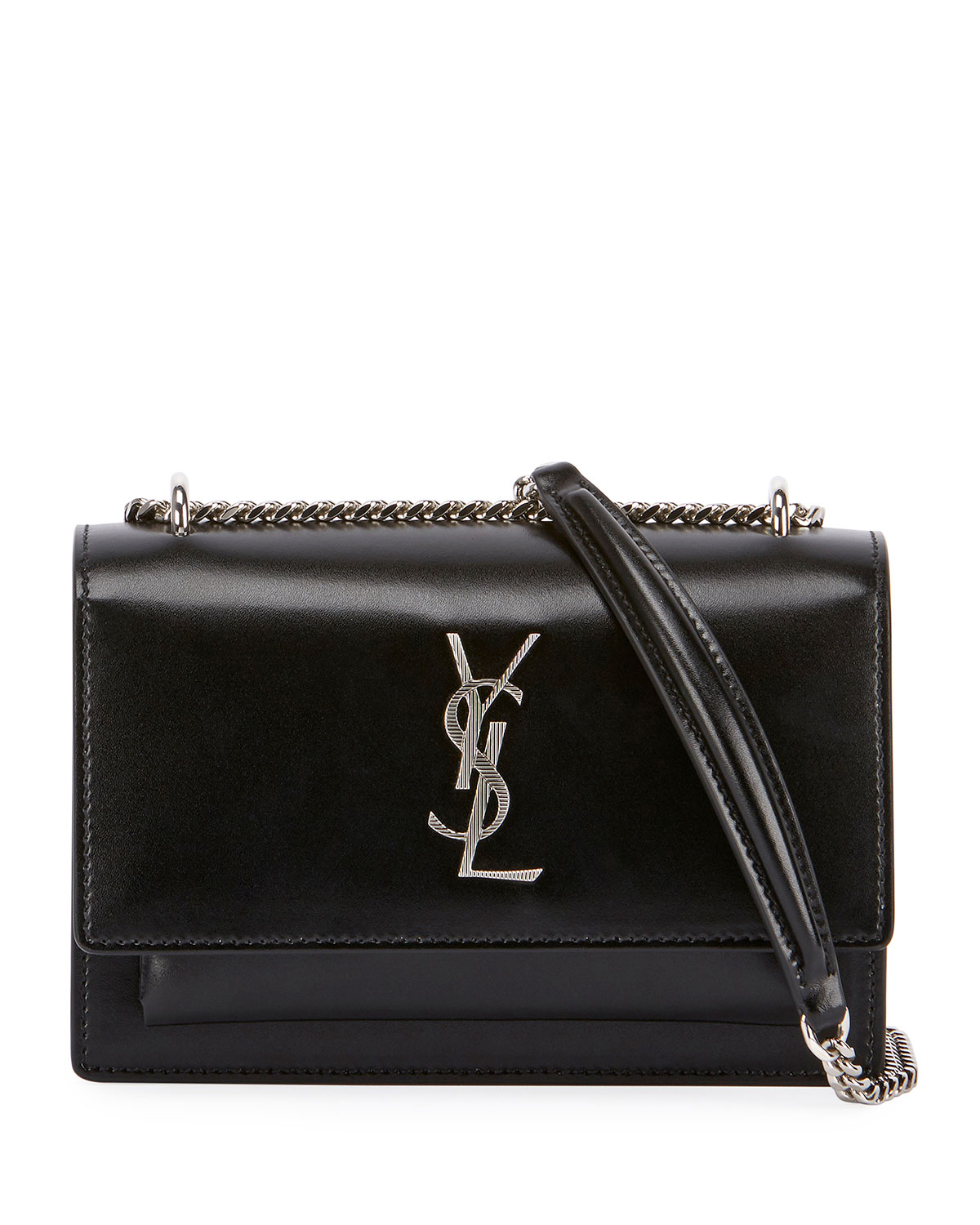 04f7f7dd99a Saint Laurent Sunset Monogram YSL Small Calf Leather Wallet on Chain |  Neiman Marcus