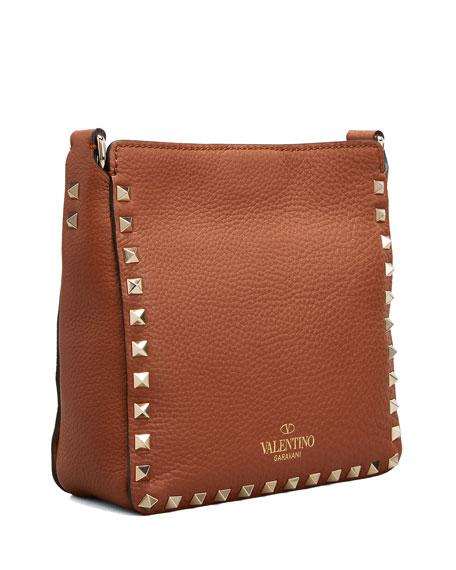 Rockstud Mini Vitello Stampa Leather Hobo Bag