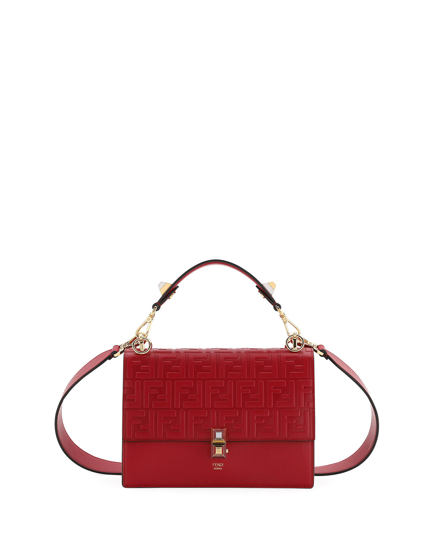 39344675da71 Fendi Kan I FF-Embossed Liberty Shoulder Bag | Neiman Marcus