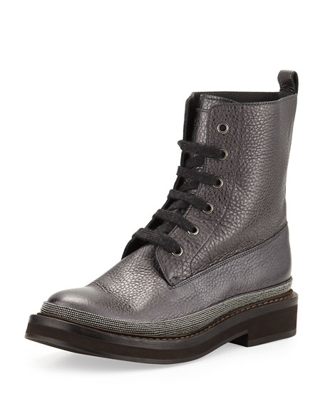 Rubber Sole Lace Up Boot | Neiman Marcus