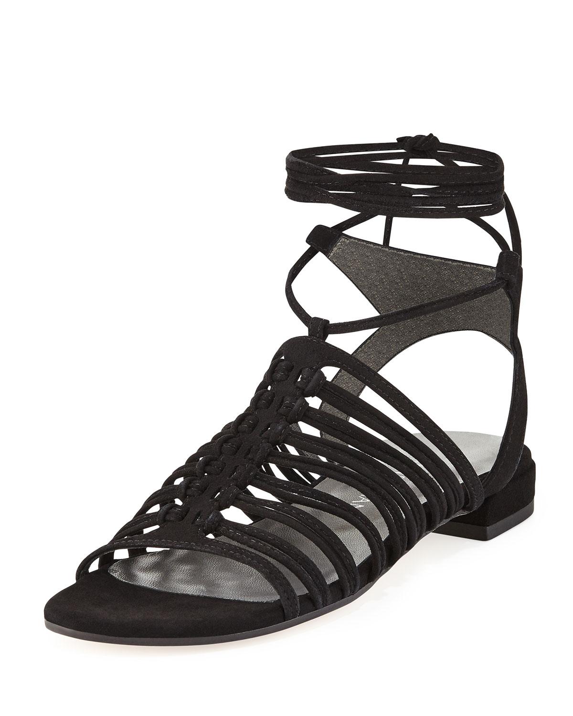 b932331ee572 Stuart Weitzman Knotagain Lace-Up Flat Sandals