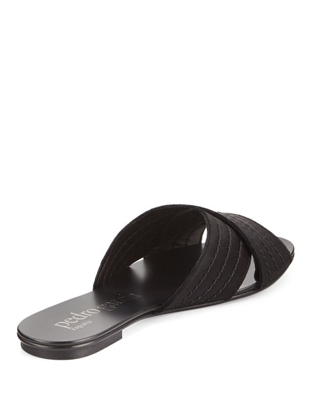 Elisa Flat Satin Slide Sandal