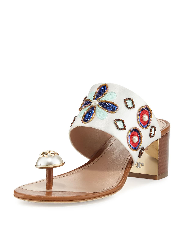 83fa630ba94c65 Tory Burch Estella Embellished Slide Sandal
