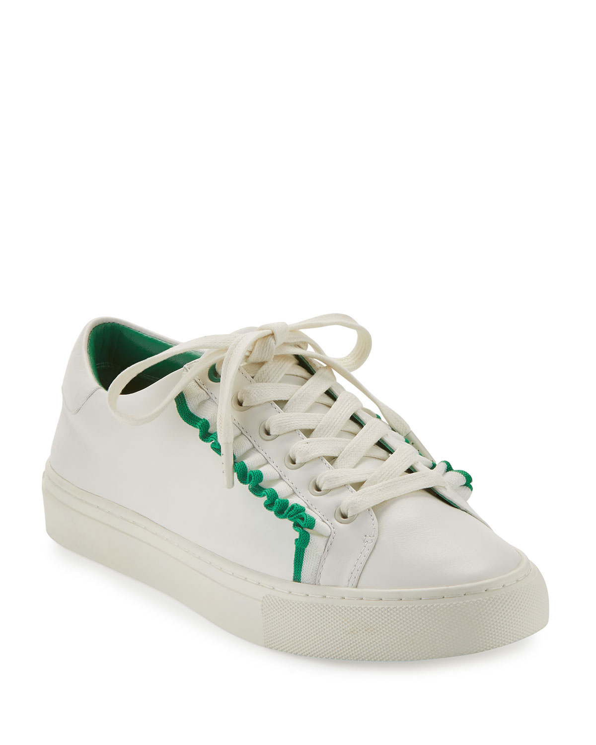 Tory Burch Woman Metallic-trimmed Leather Sneakers White Size 10.5 Tory Burch Zlamifp