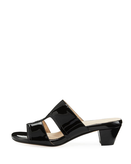 Olig Patent Strappy Slide Mule