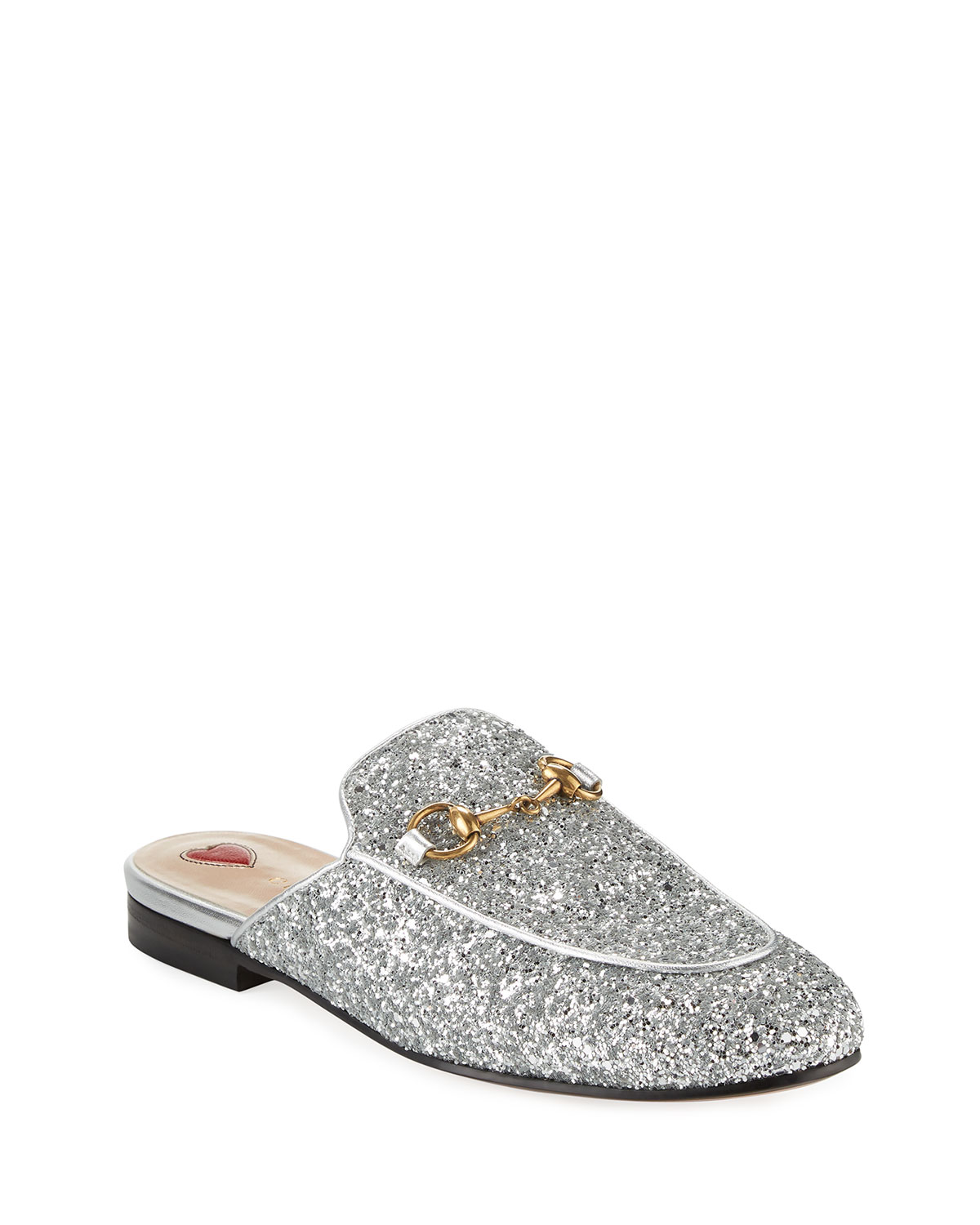 2ee691552f4f Gucci 10mm Princetown Glitter Mule | Neiman Marcus