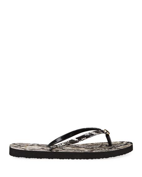 Printed Flip-Flop Sandal