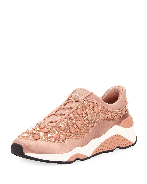 Ash Muse Beaded Crystal Sneaker
