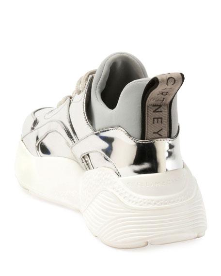 Stella McCartney Runway Metallic Lace-Up Sneakers