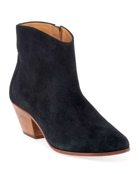 Isabel Marant Dacken Suede Ankle Booties