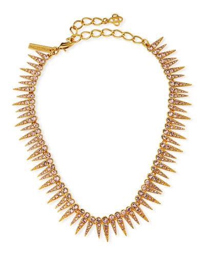 Crystal Sea Urchin Necklace