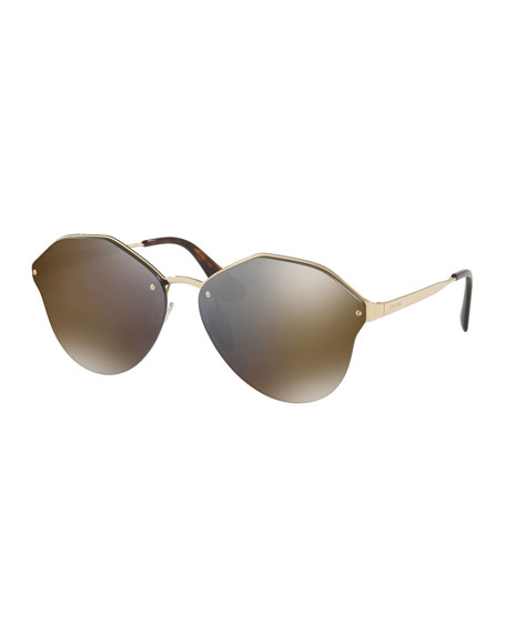 Image 1 of 5: Mirrored Round Sunglasses