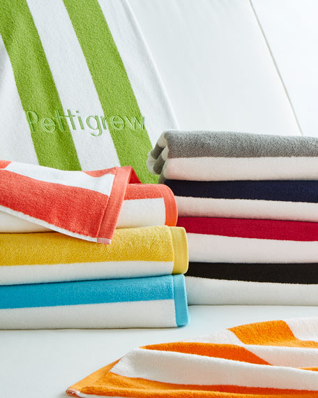 Beach Towel Online: Kassatex Cabana Stripe Beach Towels