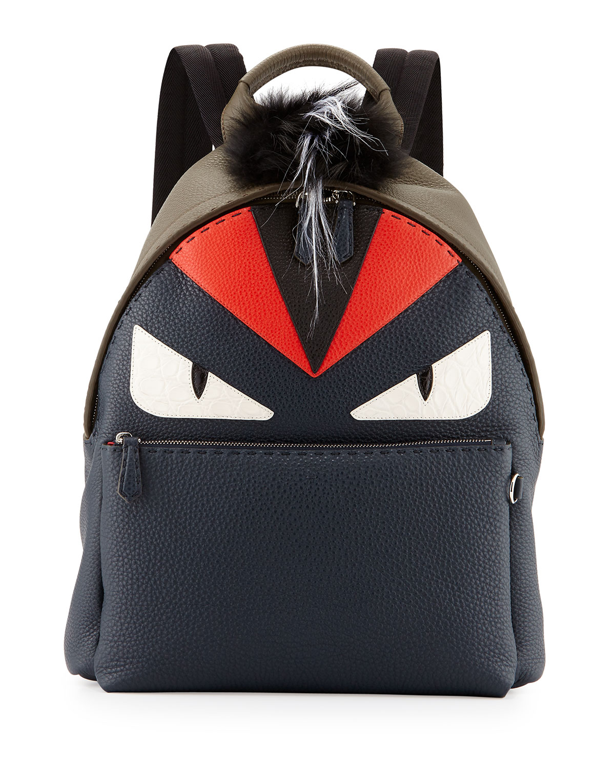Fendi Monster Backpack with Fur Crest  dd556f01f1faa