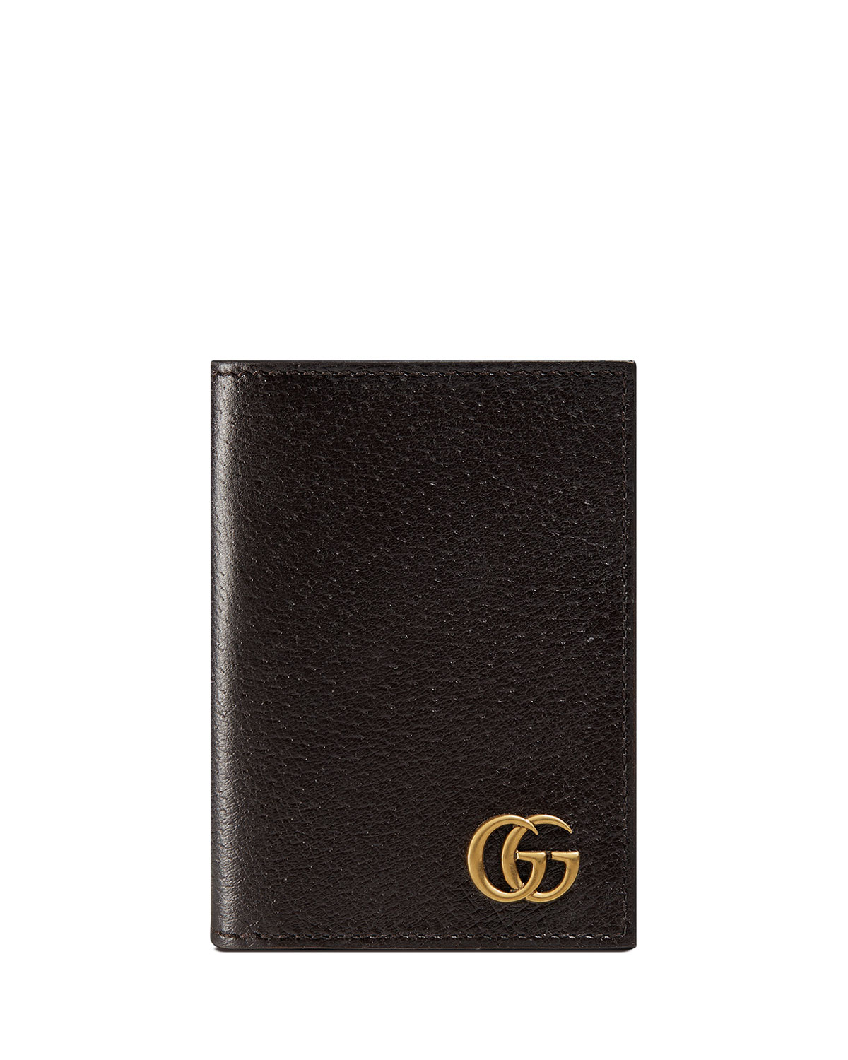 Gucci GG Marmont Leather Fold-Over Card Case   Neiman Marcus