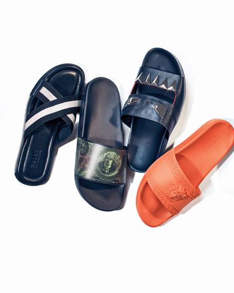 Men's Medusa & Greek Key Shower Slide Sandal