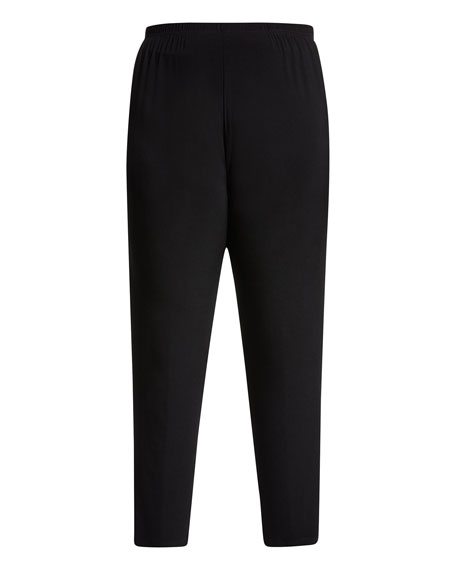 Caroline Rose Plus Size Stretch-Knit Slim Pants