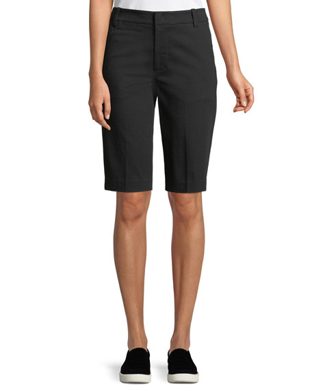 Coin-Pocket Bermuda Shorts, Black