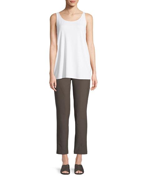 Washable Stretch-Crepe Slim Ankle Pants, Plus Size