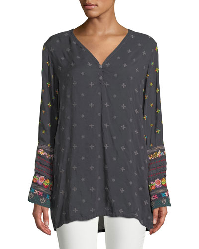 WOMENS SIMPLE ALL OVER TUNIC
