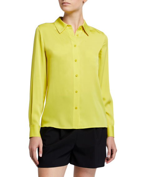 Image 2 of 3: Samson Silk Button-Down Blouse